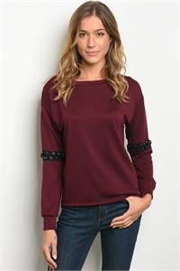 S12-9-1-T3018 BURGUNDY TOP 1-1-2-1-1