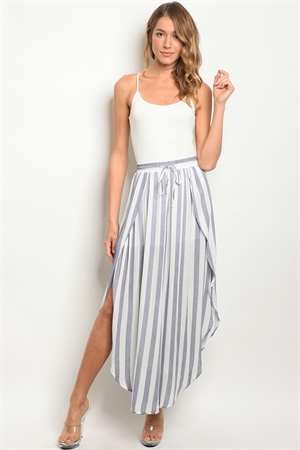 S18-3-2-P8033 NAVY WHITE STRIPES PANTS 3-3