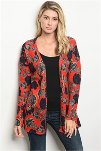 S18-13-4-C64336 RED NAVY CARDIGAN 2-2-2
