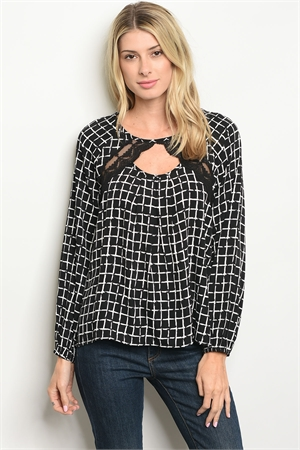 S17-4-3-T25562 BLACK CHECKERS TOP 1-1-1