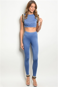 C60-A-1-SET30473 BLUE CROP TOP & PANTS SET 2-1-1
