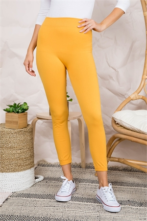S3-7-3-FAB11802 MUSTARD LEGGINGS / 10PCS