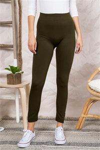 S6-1-1-FAB11802 OLIVE LEGGINGS / 10PCS