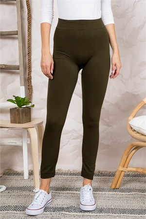 S6-1-4-FAB11802 OLIVE LEGGINGS / 10PCS