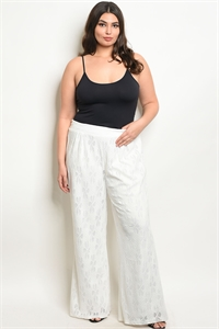 S17-7-2-P25463X WHITE PLUS SIZE PANTS 2-2-2