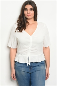 110-6-4-T25522X IVORY PLUS SIZE TOP 2-2-2