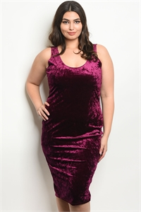 C15-A-4-D9804X PLUM SWAY PLUS SIZE DRESS 2-2-2