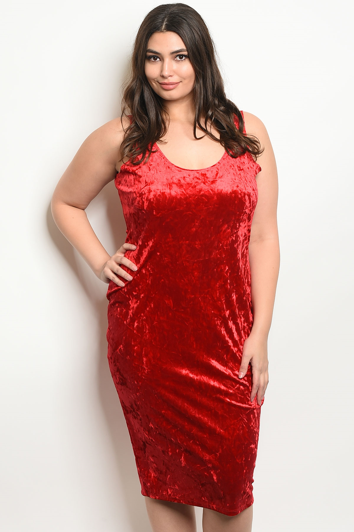 C3-A-5-D9804X RED SWAY PLUS SIZE DRESS 2-2-2