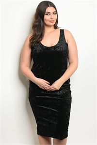 C15-A-4-D9804X BLACK SWAY PLUS SIZE DRESS 2-2-2