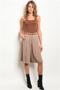 S13-4-3-S70025 TAUPE SHORTS 2-2-2