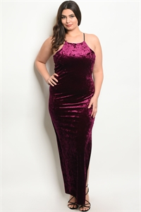 C31-A-7-D9636X PLUM SWAY PLUS SIZE DRESS 2-2-2