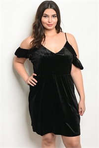 C42-A-2-D9731X BLACK SWAY PLUS SIZE DRESS 2-2-2