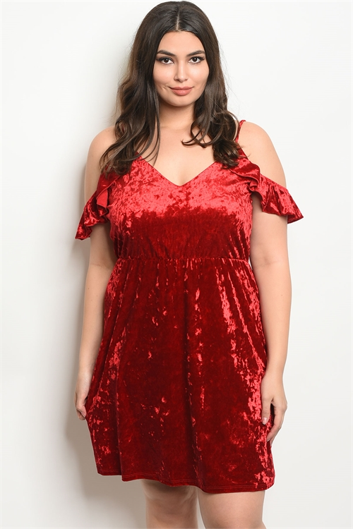 C46-A-3-D9731X RED SWAY PLUS SIZE DRESS 2-2-2