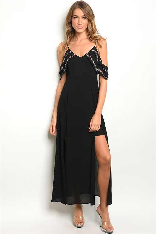 110-2-2-D2194 BLACK DRESS / 2PCS