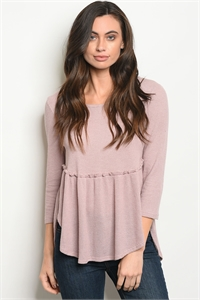 C4-B-3-T5978-4 DUSTY PINK TOP 2-2-2