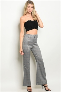 S20-7-3-P11984 BLUE CHECKERED PANTS 2-2-2