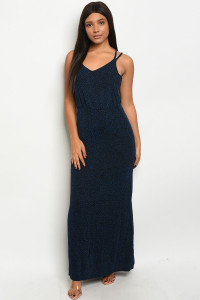 S23-10-2-D9904 BLUE BLACK DRESS 2-2-2  ***WARNING: California Proposition 65***