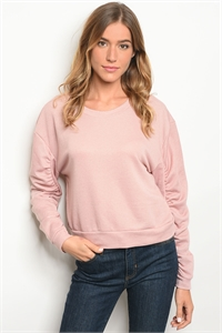 C38-B-1-T8043 DUSTY PINK TOP 1-2-3