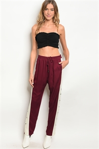 123-2-1-P13622 WINE CREAM PANTS 3-2-1
