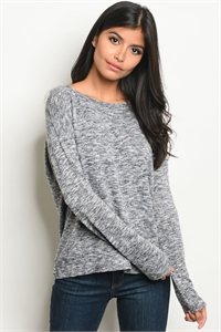 C62-B-1-T7498-1 NAVY GREY TOP 1-3-4