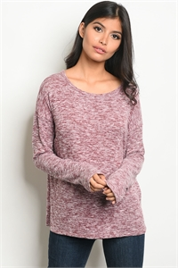 C62-B-1-T7498-1 WINE GREY TOP 1-2-2
