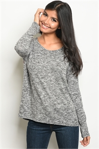 C45-B-3-T7498-1 BLACK GREY TOP 2-2-2