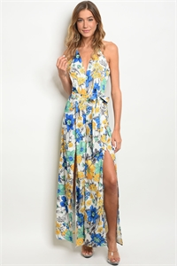 S10-11-1-J50337 WHITE BLUE FLORAL JUMPSUIT 2-2-2