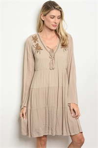 S11-17-1-D10740 TAUPE DRESS 2-2-2