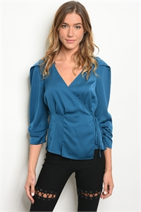S6-2-2-T27317 TEAL TOP 2-2-2
