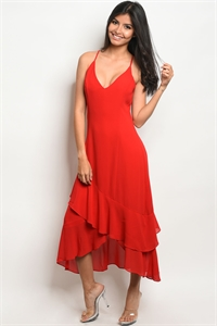 S12-10-1-NA-D72698 RED DRESS 3-2-1