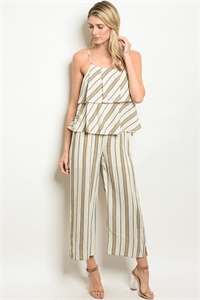 S11-17-4-NA-J71483 CREAM YELLOW STRIPES JUMPSUIT 2-2-2