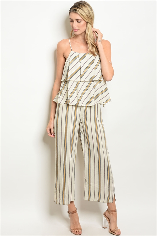 114-2-4-NA-J71483 CREAM YELLOW STRIPES JUMPSUIT 3-2-2