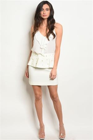 S10-4-3-S40536 OFF WHITE W/ PEARL SKIRT 3-3-2