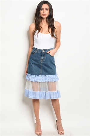 S9-4-2-S40514 BLUE DENIM SKIRT 2-2-2