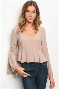 S10-4-2-T20021 TAUPE TOP 2-2-2