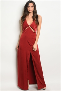 C75-A-5-DMS339 WINE MAXI DRESS 3-2-1