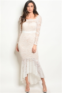 S11-19-5-D1457 WHITE NUDE DRESS 2-2-2