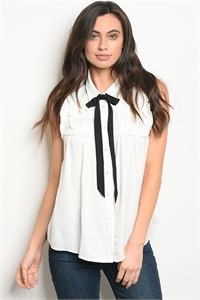 114-4-1-T1488 OFF WHITE BLACK TOP 2-2-2