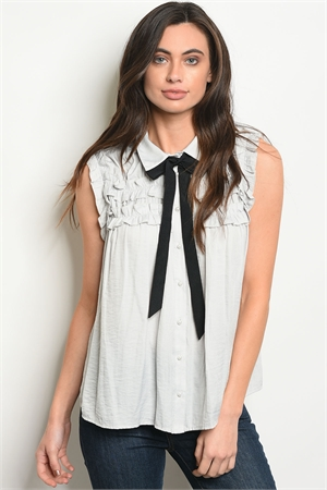 S19-9-5-T1488 GRAY BLACK TOP 2-2-2