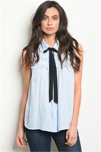 110-5-4-T1488 BLUE BLACK TOP 2-2-2
