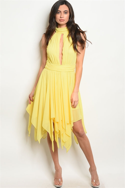 S22-2-1-D4896 YELLOW DRESS 3-2-1
