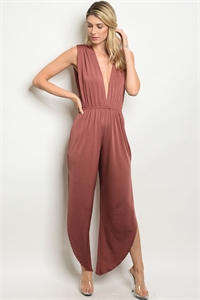 C76-A-7-J71337 BROWN JUMPSUIT 2-2-2