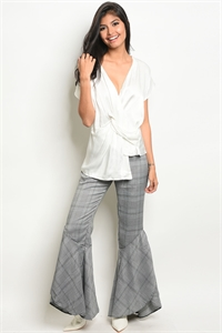 S19-5-5-P15929 GRAY CHECKERED PANTS 3-2-1