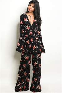 e38ee17a8bf Quick View this Product S11-9-2-NA-J74138 BLACK FLORAL JUMPSUIT 2-2- ...