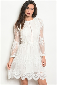 S11-11-1-NA-D23582 OFF WHITE DRESS 3-2-1