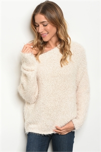 S8-4-2-S2301 CREAM SWEATER 3-2-1