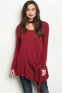 C17-A-2-T7948 BURGUNDY TOP 2-2-2