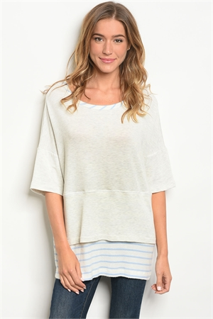 S17-8-6-T7812072 IVORY BLUE TOP 2-2-2