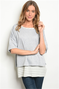 S8-4-4-T7812072 GRAY IVORY TOP 2-2-2