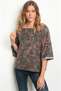 S17-11-6-T79012 TAUPE CAMOUFLAGE TOP 2-2-2